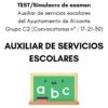 LIBRO DE TEST AUXILIAR SERVICIOS ESCOLARES