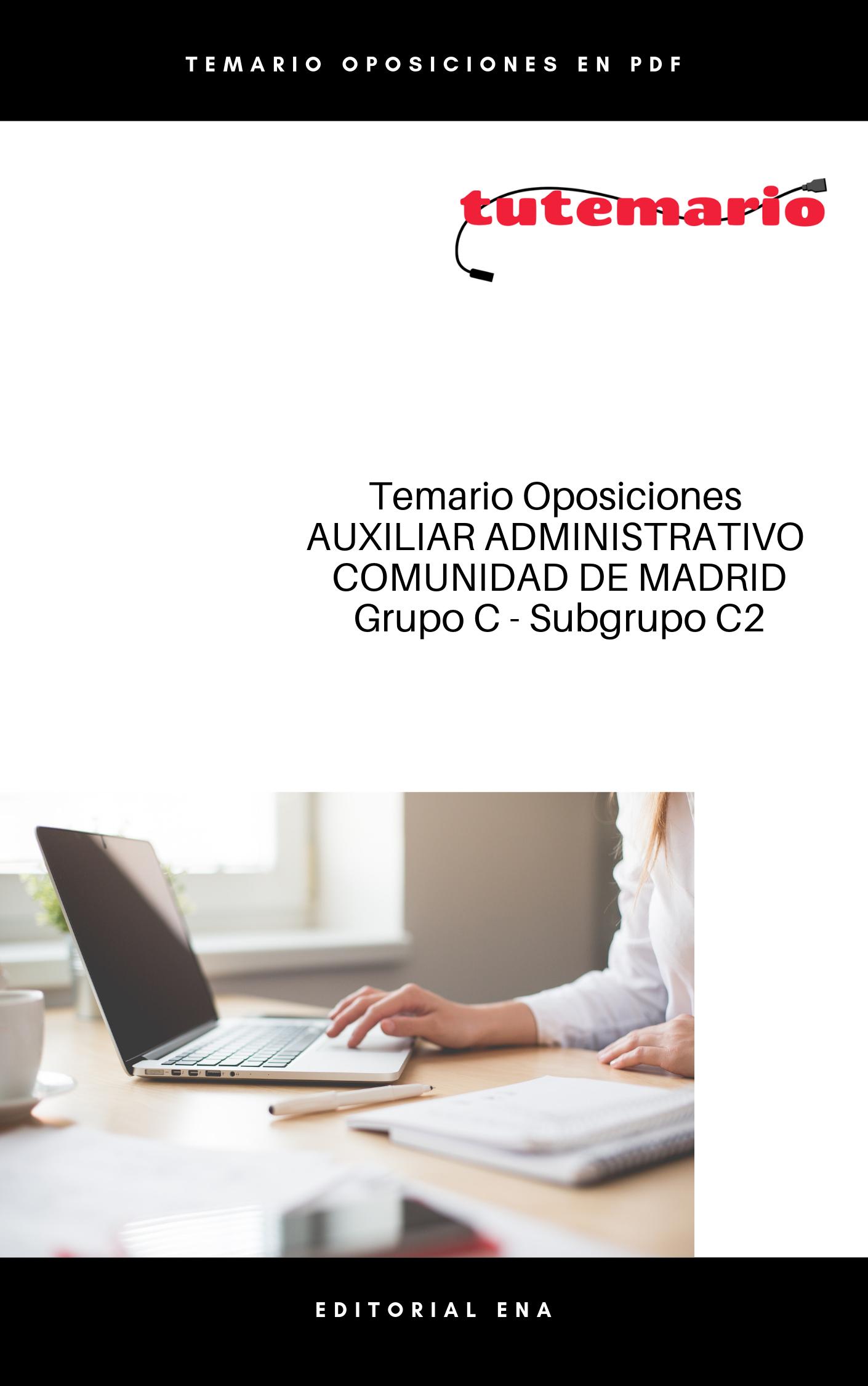 Temario Auxiliar Administrativo Comunidad De Madrid 2019 Pdf