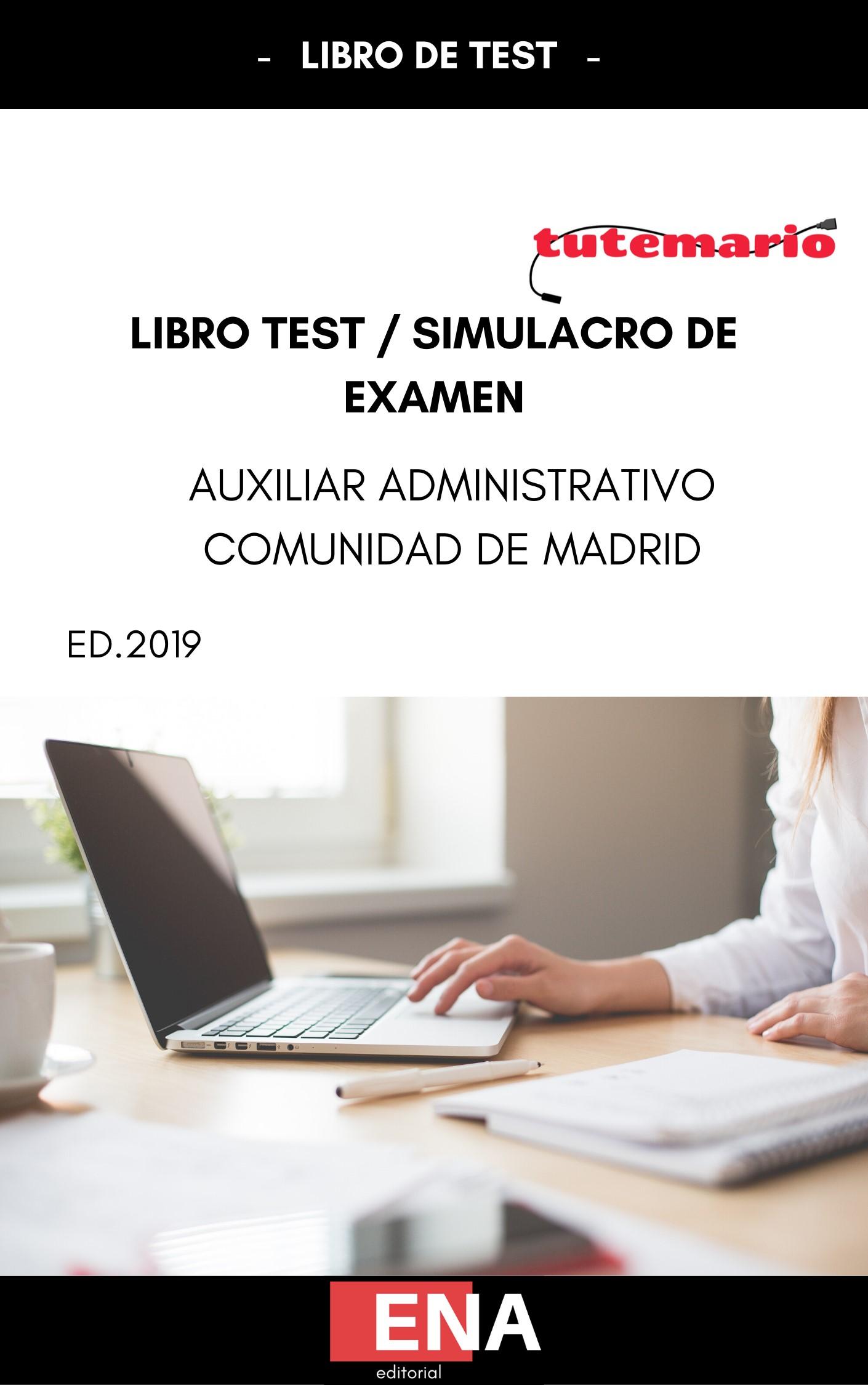 Libro De Test Simulacro De Examen Auxiliar Administrativo De Madrid Pdf