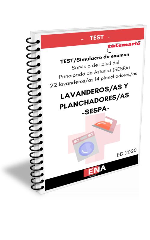 Portada libro de test Lavanderos/as y Planchadores/as