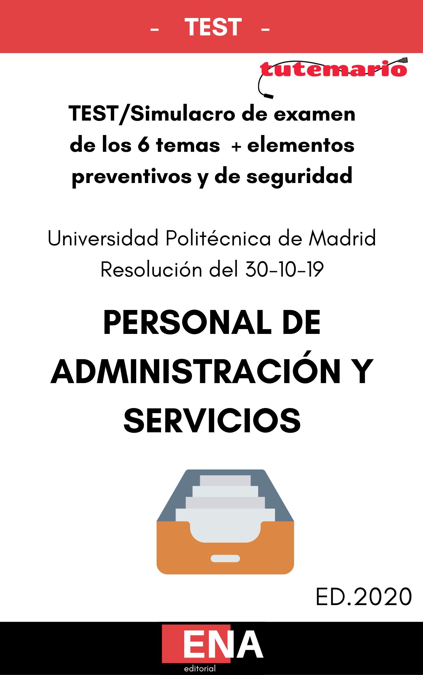 Test Parte Común Oposiciones Universidad Politécnica De Madrid Formato Pdf Tutemario