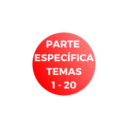 PARTE ESPECÍFICA TEMAS 1 - 20 - administrativo GVA C1-01 - temarios