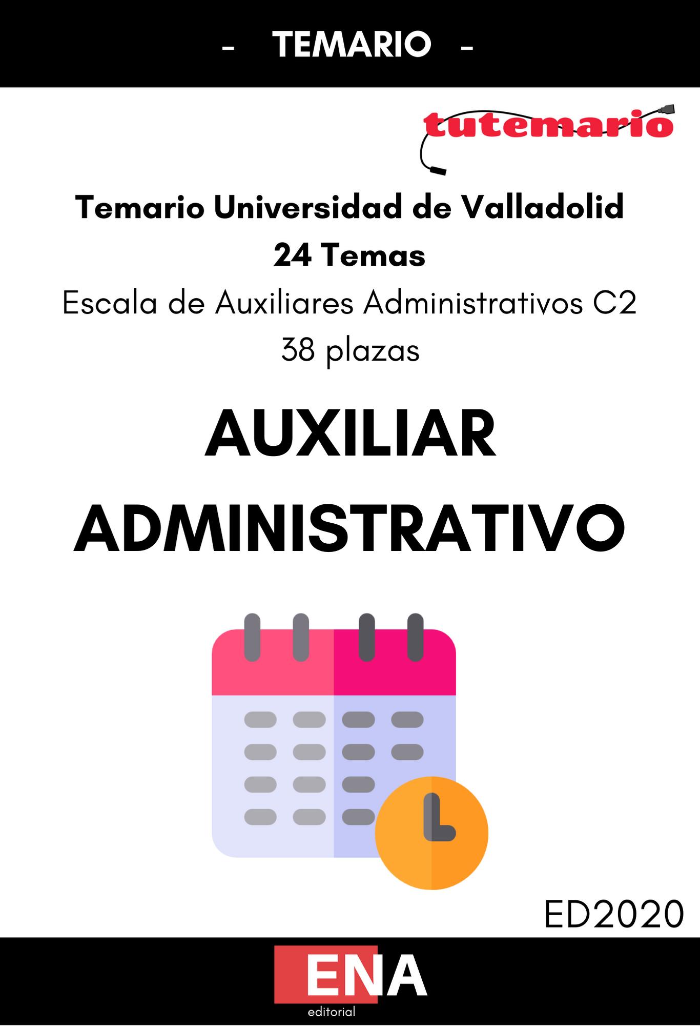 Libro De Test Auxiliar Administrativo Universidad De Valladolid Formato Pdf Tutemario